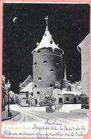 Gruss Aus Riga - Pulverthurm Timbres Et Cachet Russe Au Dos - Letonia