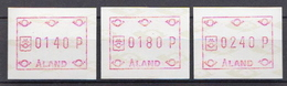 Aland 3 MNH Machine Stamps - Aland