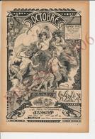Premier Octobre 1906 Mythologie Bacchus Dieu Du Vin Et Silène Grappe De Raisins Raisin Fruit Panthère ? Guépard ?223CH11 - Unclassified