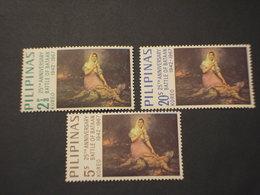 FILIPPINE - 1967 QUADRO BATTAGLIA 3 VALORI - NUOVO(++) - Filippine