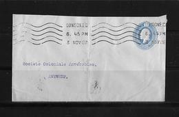 """1913 Great Britain → National Bank Of India """"Printed To Private Order"""" PS Cover - Inde (...-1947)"""