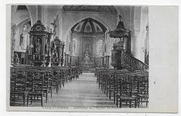STEENVOORDE EN 1918 - INTERIEUR DE L' EGLISE ST PIERRE - CPA VOYAGEE - Steenvoorde