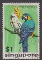 Singapore 267 1975 Birds $ 1 Sulphur Crested Coockatoo, Used - Singapore (1959-...)