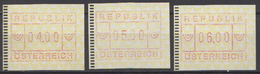 Austria 3 MNH Machine Stamps - Machine Stamps (ATM)