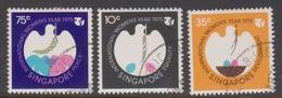 Singapore 268-270 1975 International Women's Day, Used - Singapore (1959-...)