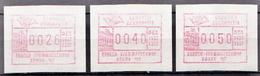 Greece 3 MNH Machine Stamps - Machine Stamps (ATM)