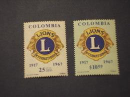 COLOMBIA - 1967 LIONS/LEONI 2 VALORI - NUOVO(++) - Colombia