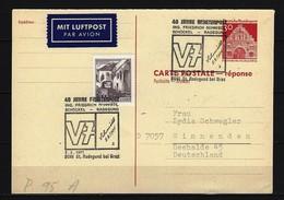 BUND -  P 95 A Postkarte Gelaufen Sonderstempel 40 Jahre Raketenpost 8061 St. Radegund 2.2.1971 - [7] République Fédérale