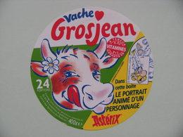 """Etiquette Fromage Fondu - Vache Grosjean - 24 Portions Pub """"Portrait Astérix"""" Goscinny-Uderzo  A Voir ! - Fromage"""