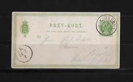 1879 Denmark → 10 Ore Green H&G 5 Type 2 PS Postcard Copenhagen Cover To Germany - 1864-04 (Christian IX)