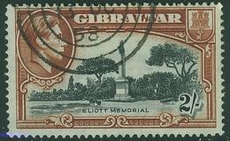 GIBRALTAR KGVI 1938 2s Black & Brown SG 128 Perf 14 Fine Used - Gibraltar
