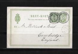1898 Denmark → Uprated 5 Ore Green H&G 25 B PS Postcard Torre-Sundby Cover - 1864-04 (Christian IX)