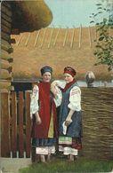 AK Ukraine Ukrainische Volkstypen Frauen Color 1915 #03 - Europa