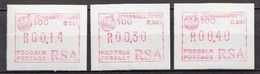 South Africa 3 MNH Machine Stamps - Frama Labels