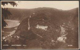 Countisbury Hill, Lynton, Devon, 1932 - Photochrom RP Postcard - Lynmouth & Lynton