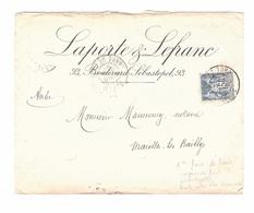 RARE Sage N° 101 FAUX (1er Faux De Paris ?) Sur Lettre Postée PARIS GARE Le LYON En 1897 - 1898-1900 Sage (Type III)