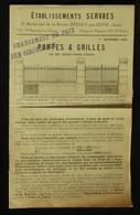 Catalogue Ferronnerie Pour L'Habitat Et L'Horticulture Ets SERVAES EPINAY-SUR-SEINE 1925 - Agricoltura