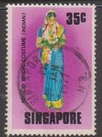 Singapore 288 1976 Period Bridal Costume,35c Indian Costume, Used - Singapore (1959-...)