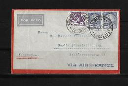 1933 Brazil → Air France Flown 4200 Reis On Sao Paulo Airmail Cover To Germany - Poste Aérienne