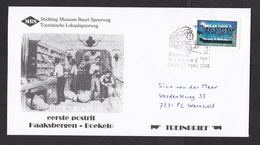 Netherlands: Commemorative Cover, 1998, 1 Stamp, Local Railways, First Train Post Transport Haaksbergen (traces Of Use) - Period 1980-... (Beatrix)
