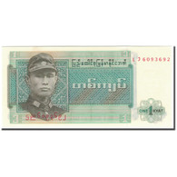 Billet, Birmanie, 1 Kyat, KM:56, NEUF - Myanmar