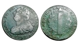 2 Sols LOUIS XVI 1792 A (Paris) AN 4 Type FRANÇOIS  A VOIR!!! - 987-1789 Monnaies Royales