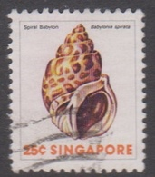 Singapore 298 1977 Sea Shells Definitive,25c, Used - Singapore (1959-...)