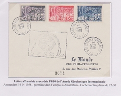 TAAF - Iles Australes - Saint Paul Et Amsterdam 1958 - Agi - P8/10 - Pj - Covers & Documents
