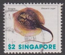 Singapore 302 1977 Marine Life Definitive,$ 2 Sting Ray, Used - Singapore (1959-...)