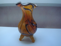 Vase Murano Jaune Souflé Bouche - Verre & Cristal