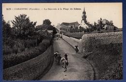 29 CARANTEC La Descente à La Plage Du Kélenn ; Vaches, église - Animée - Carantec