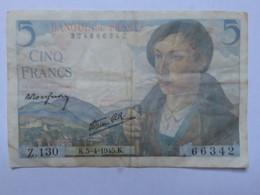 Billet France, 5 Francs, 1945, 1945-5-4 - MISE A PRIX 1€ ! Bonne Enchères - 1871-1952 Circulated During XXth