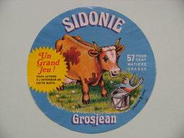 "Etiquette Fromage Fondu - R.Grosjean&Fils - Portion Pub ""SIDONIE""   A Voir ! - Cheese"
