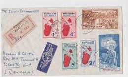 TAAF - Iles Australes - Kerguelen 1957- Recommandé - Madagascar Non émis Pa 25/40 - Pa 42/44 - Galliéni - Covers & Documents