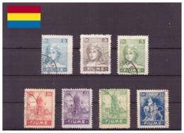 Fiume 1919 - ° - Soggetti Vari, Scritta FIUME - Unificato Nr. 32-38 (fiu001) - 8. Occupazione 1a Guerra