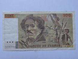 Billet France 100 Francs Delacroix - Années 1995 - MISE A PRIX 1€ ! Bonne Enchères :) - 100 F 1978-1995 ''Delacroix''