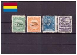 Fiume 1920 - * - Pro Fondazione Studio Con Soprastampa II - Unificato Nr. 101 104-105 113 (fiu007) - 8. Occupazione 1a Guerra