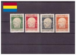 Fiume 1920 - * - Effigie Di D'Annunzio - Unificato Nr. 115-118 (fiu009) - 8. Occupazione 1a Guerra