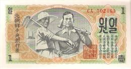 NORTH KOREA    1    WON      1947     P 8  - UNC - Corée Du Nord