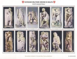 SMOM [2018] La Scultura Nell'arte – Benedetto Antelami: Il Ciclo Dei Mesi (Battistero Di Parma); Sheet (MNH) - Beeldhouwkunst