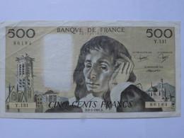 Billet 500 Francs PASCAL FRANCE 1981 - MISE A PRIX 1€ ! Bonne Enchères :) - 1962-1997 ''Francs''