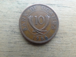 Ouganda  10  Cents  1966  Km 2 - Ouganda