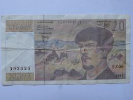 Billet 20 Francs Debussy 1997 - MISE A PRIX 1€ ! Bonne Enchères :) - 20 F 1980-1997 ''Debussy''