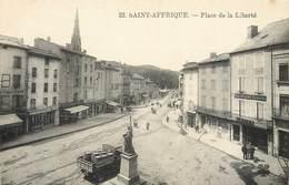 CPA 12 Aveyron Saint Affrique - St- Place De La Liberté- Camion - Brasserie - Neige - Sel - Grains - Farines - 22 - Saint Affrique