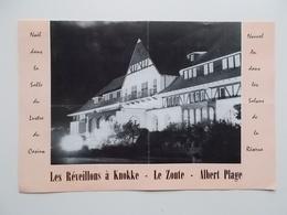 Original - Menu : Réveillons De Noël & Nouvel An 1962, La Réserve D'Albert - Plage Et Le Casino De Knokke ,  500-600 Fr - Menus