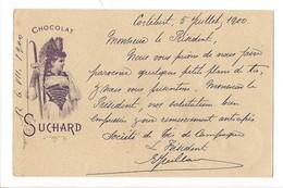 20891 - Chocolat Suchard Femme En Costume  De Cortébert 5.07.1900 Pour St-Imier - Publicité