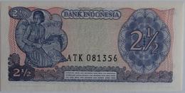 Indonesia 2½ Rupiah 1968 UNC, World Paper Money P-103a - Indonésie