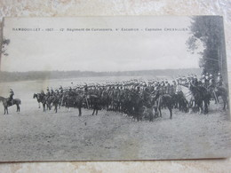 RAMBOUILLET 1907 - 12ème Régiment De Cuirassiers, 4ème Escadron, Capitaine Chevallier - Francia