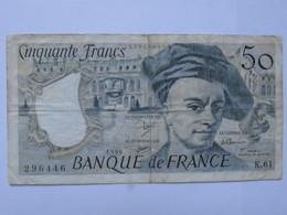 Billet France 50 Francs Quentin De La Tour - Z.61 - 1990 - MISE A PRIX 1€ ! Bonne Enchères :) - 1962-1997 ''Francs''