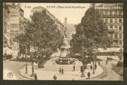 CP-LYON - Place De La République - Lyon